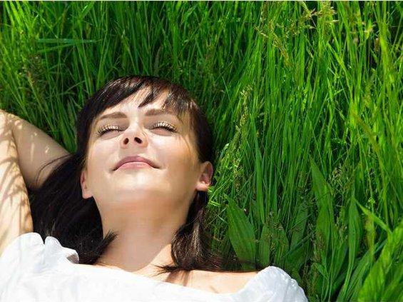 laze in grass