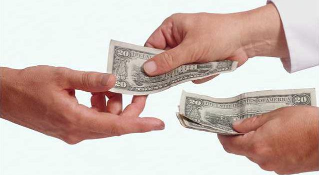 money changes hands