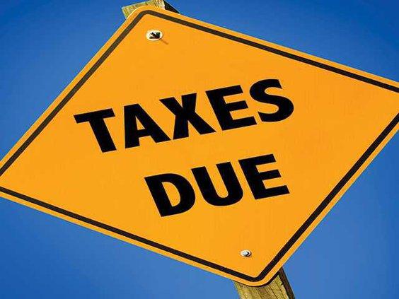 taxes due sign