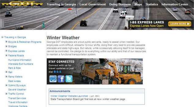 weather webpage