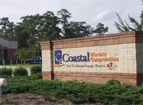 Coastal EMC logo sign