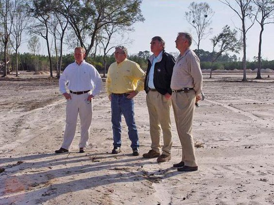 Commissioners at Henderson Park site