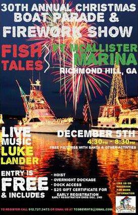 Fish Tales Boat Parade flyer