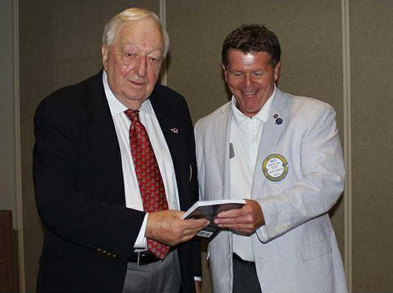 Grassey donated a copy of his book Its Character That  Counts to the Rotary Club of Richmond Hill.