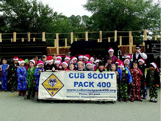 Pack 400 representing Polar Express at this years Christmas Parade. Photo by Jennifer Bradley