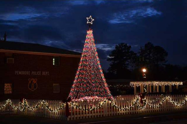Pembroke tree lighting