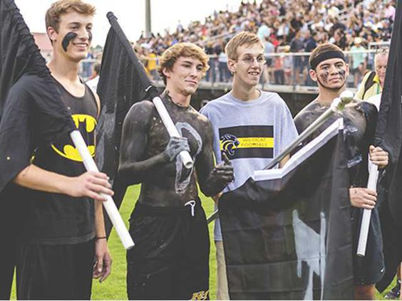 Charlie Penn and his classmates at RHHS Football game. Photo by Esther Griffin