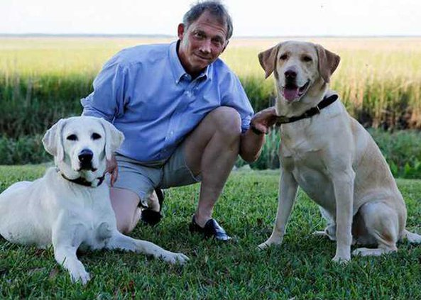 Greg Elmgren and his dogs