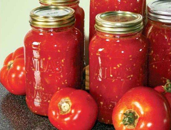 Jarred tomatoes