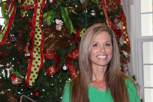 Kandi Jung pictured in her home felt truly blessed to be able to decorate the Cassady home during this holiday season. Photo by Evelyn Fallon