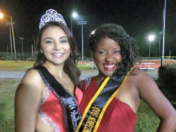 RHHS 2014 Homecoming Queen Diana Malave last e with hyphen and 2015 Queen Kerri Hardy picture provided