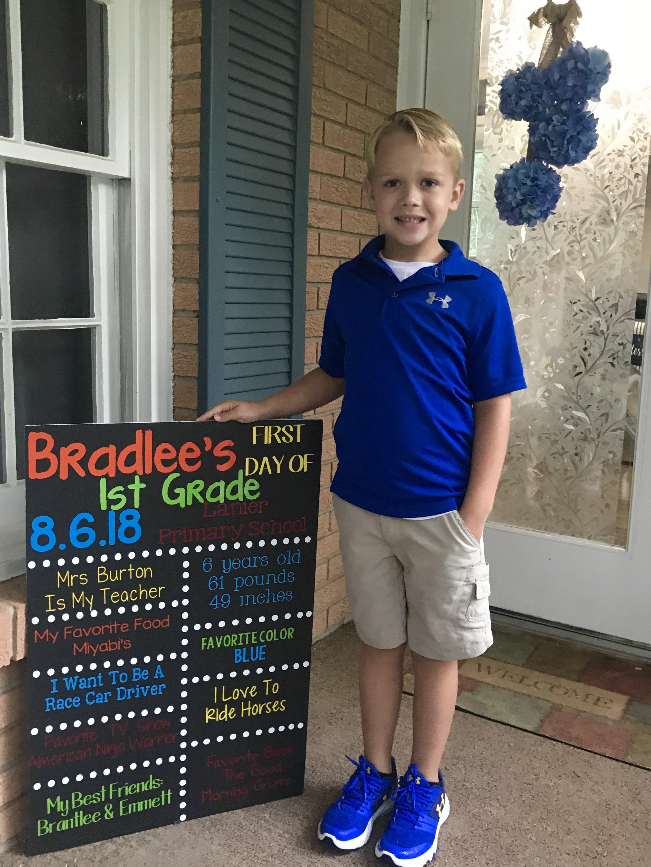 Bradlee, 1st grade, Lanier