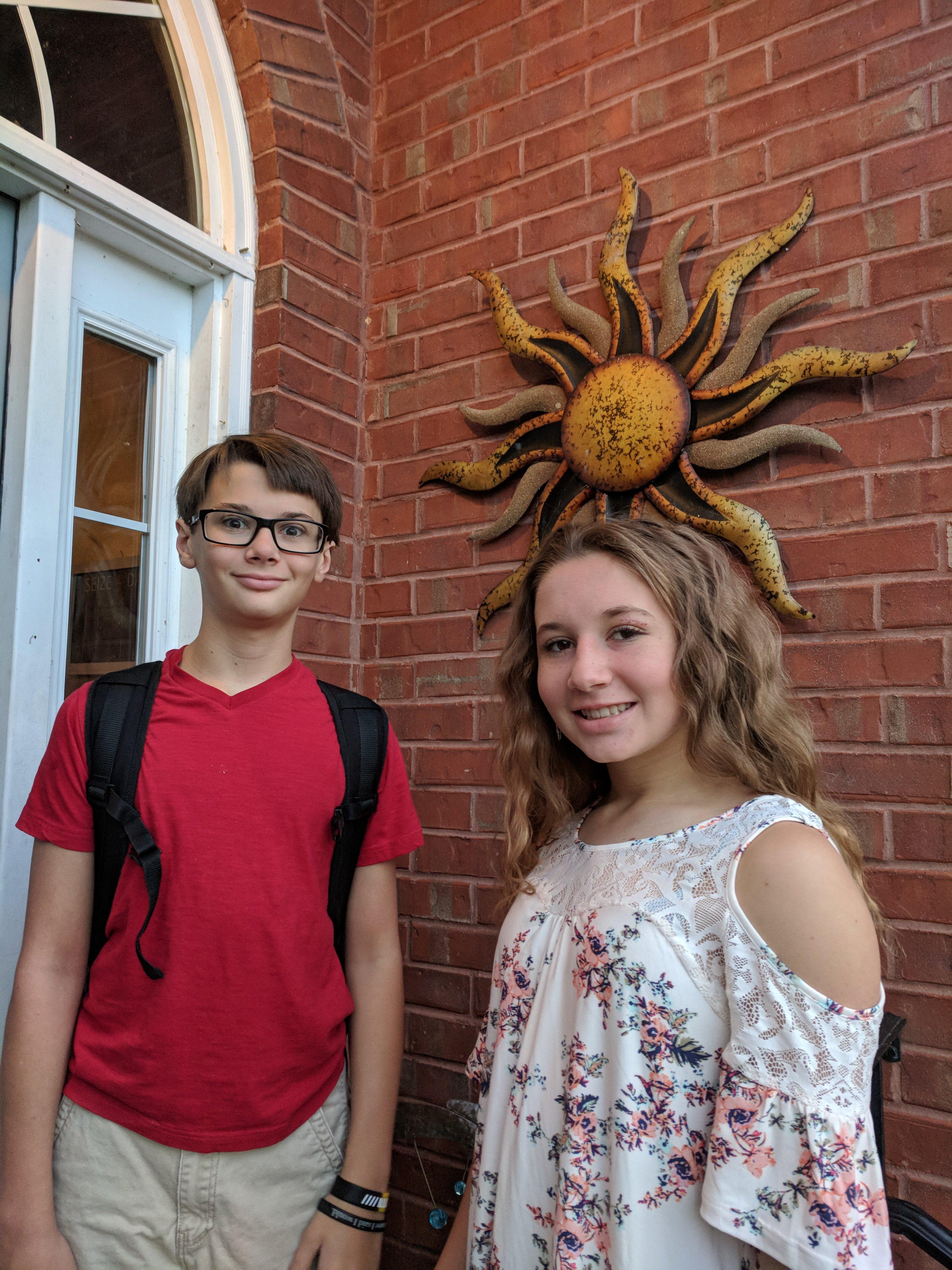 Cade Huff, freshman RHHS, Kennedy Huff, 7th grade RHMS.