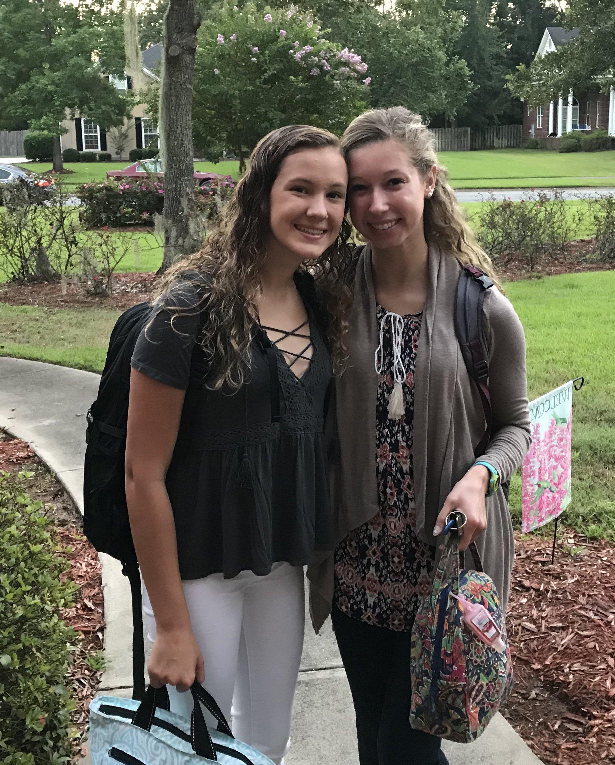 Emmie (freshman) and Maddie (junior)