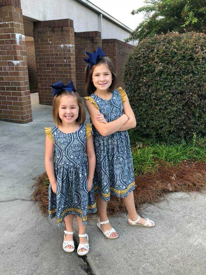 Lily Walraven, 1st grade BCES, and Madelyn Walraven, 5th grade, LPS.