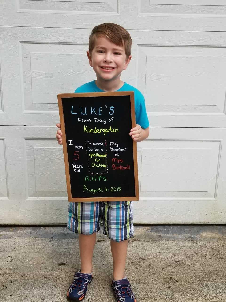 Luke, kindergarten RHPS