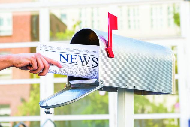 mailing newspaper
