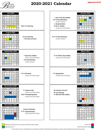 Bryan County Schools announce calendar dates through 2021   Bryan