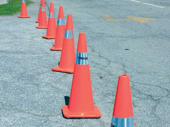 Road work cones