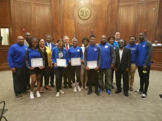 Bradwell track team honored at Hinesville City Council meeting, May 16