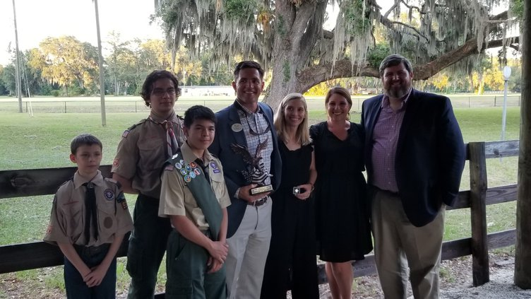 Boy Scouts honor Nick Westbrook