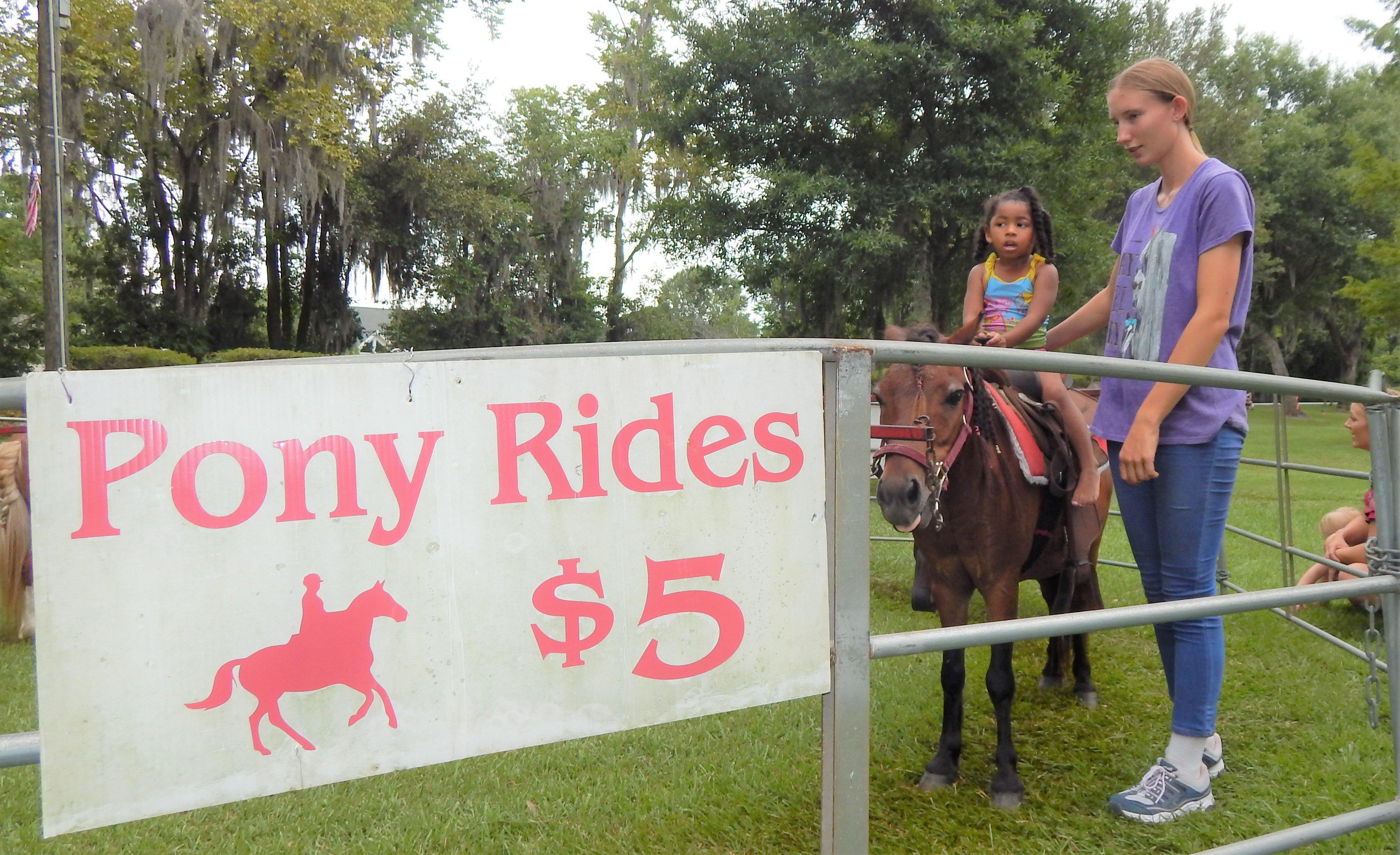 Kids enjoyed the pony rides for $5. Photo by Mark Swendra.