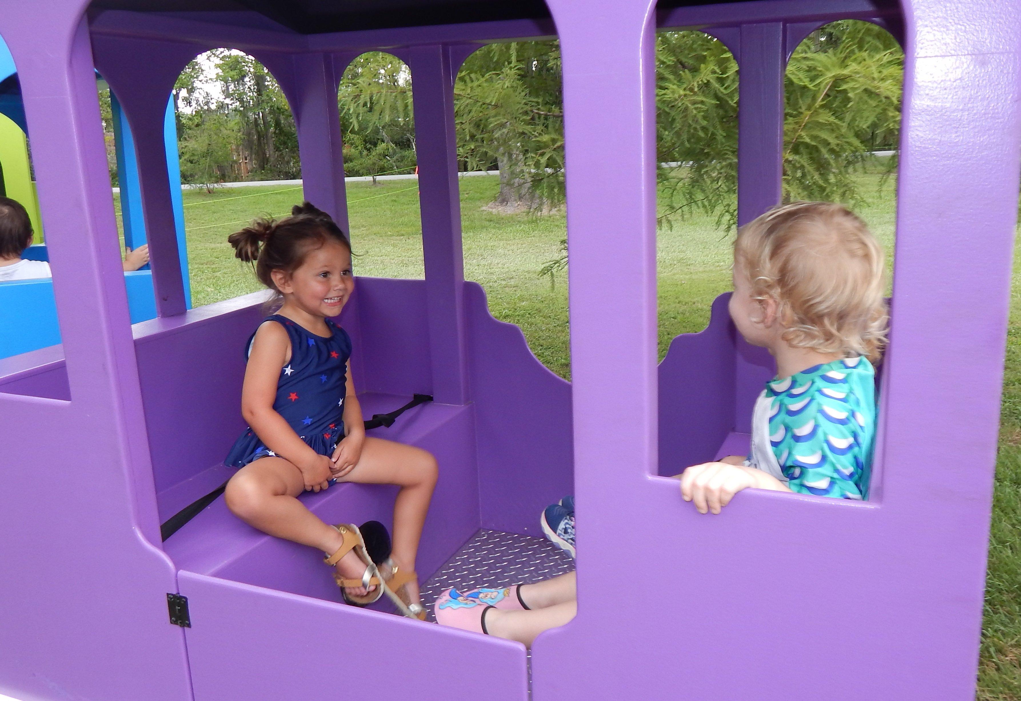 Kids and adults alike enjoyed the train rides. Photo by Mark Swendra