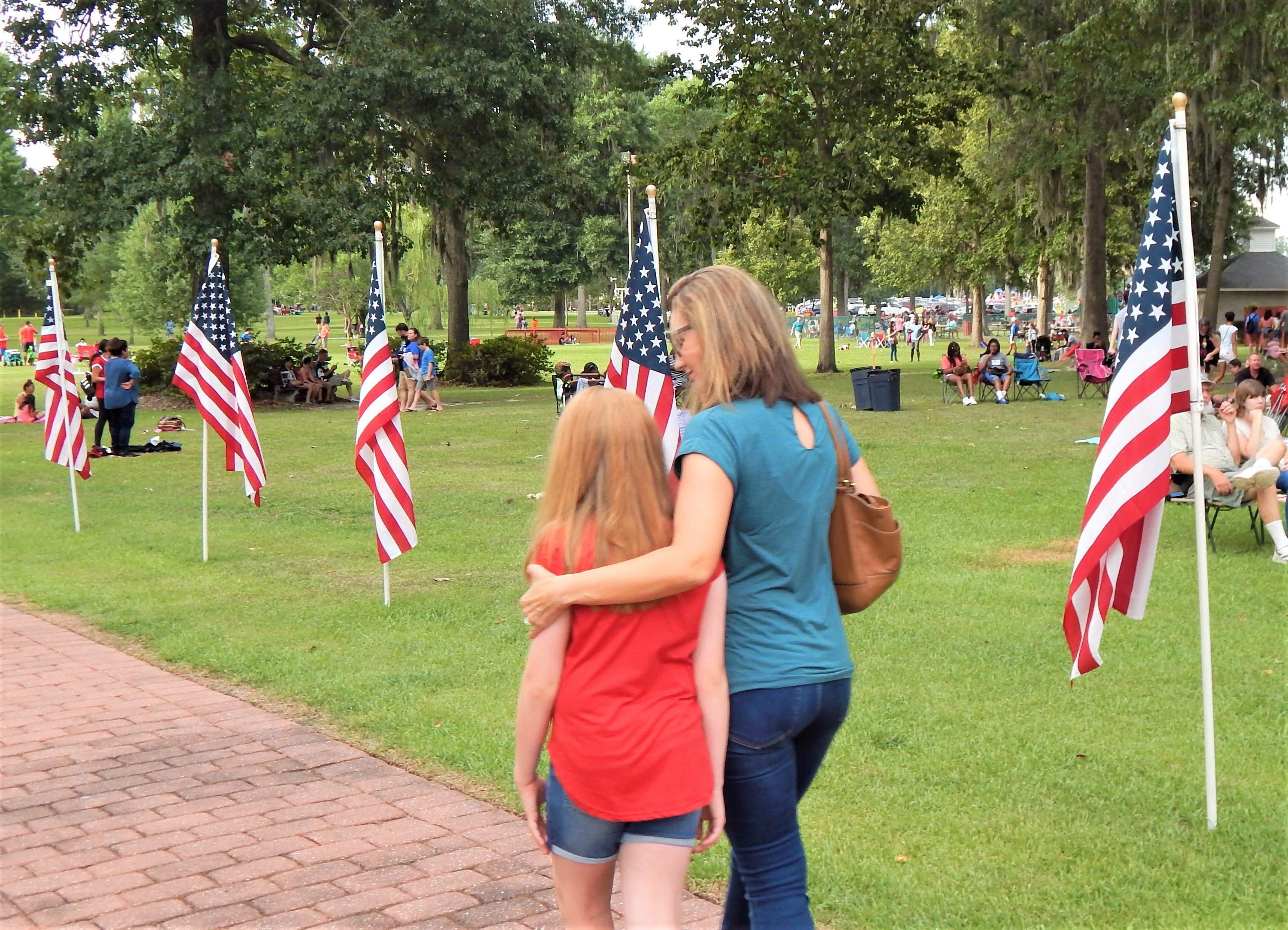 A pathway of flags got everyone into the patriotic spirit. Photo by Mark Swendra.