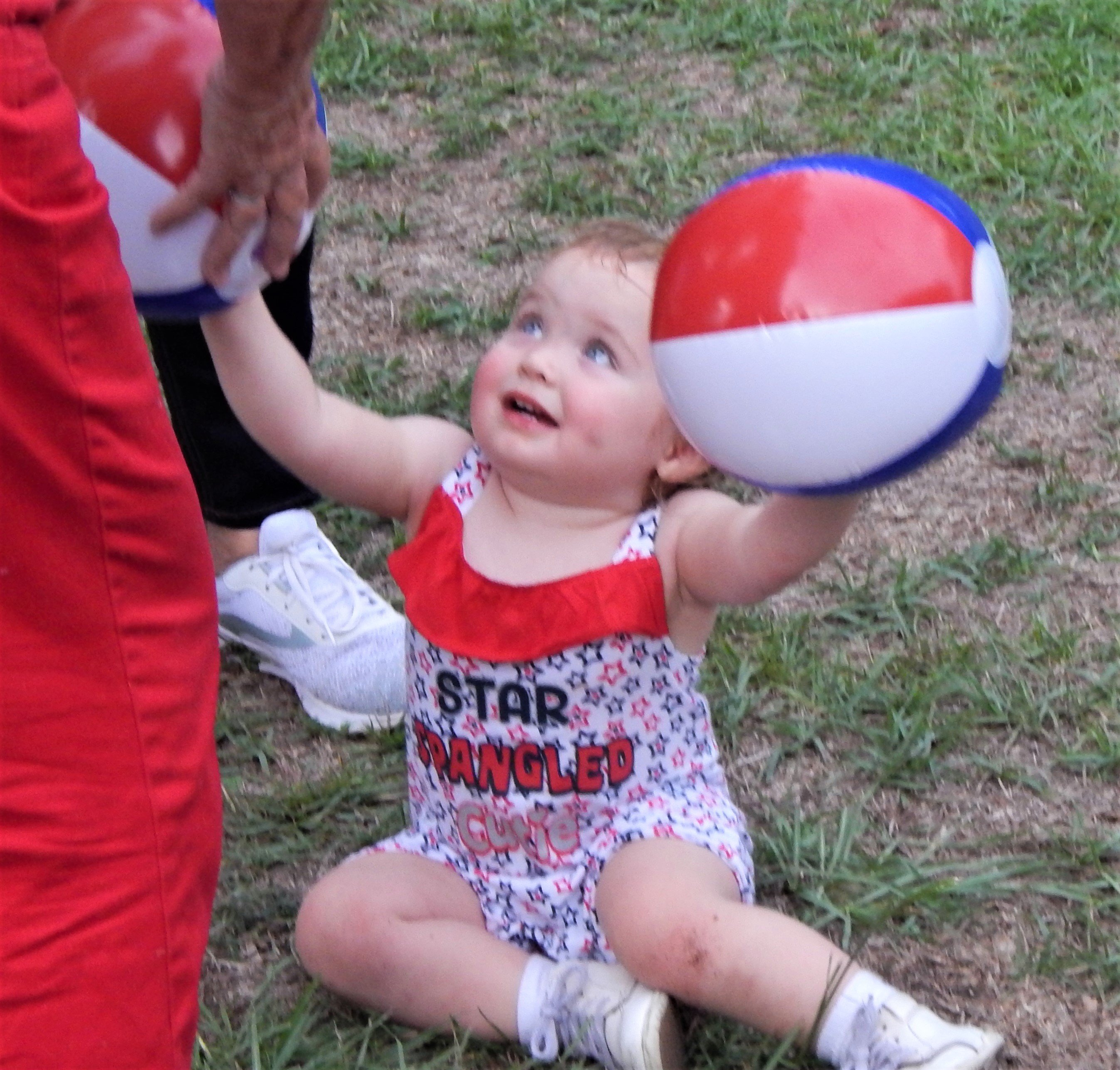 Cute kids, dressed in patriotic attire, were everywhere. Photo by Mark Swendra