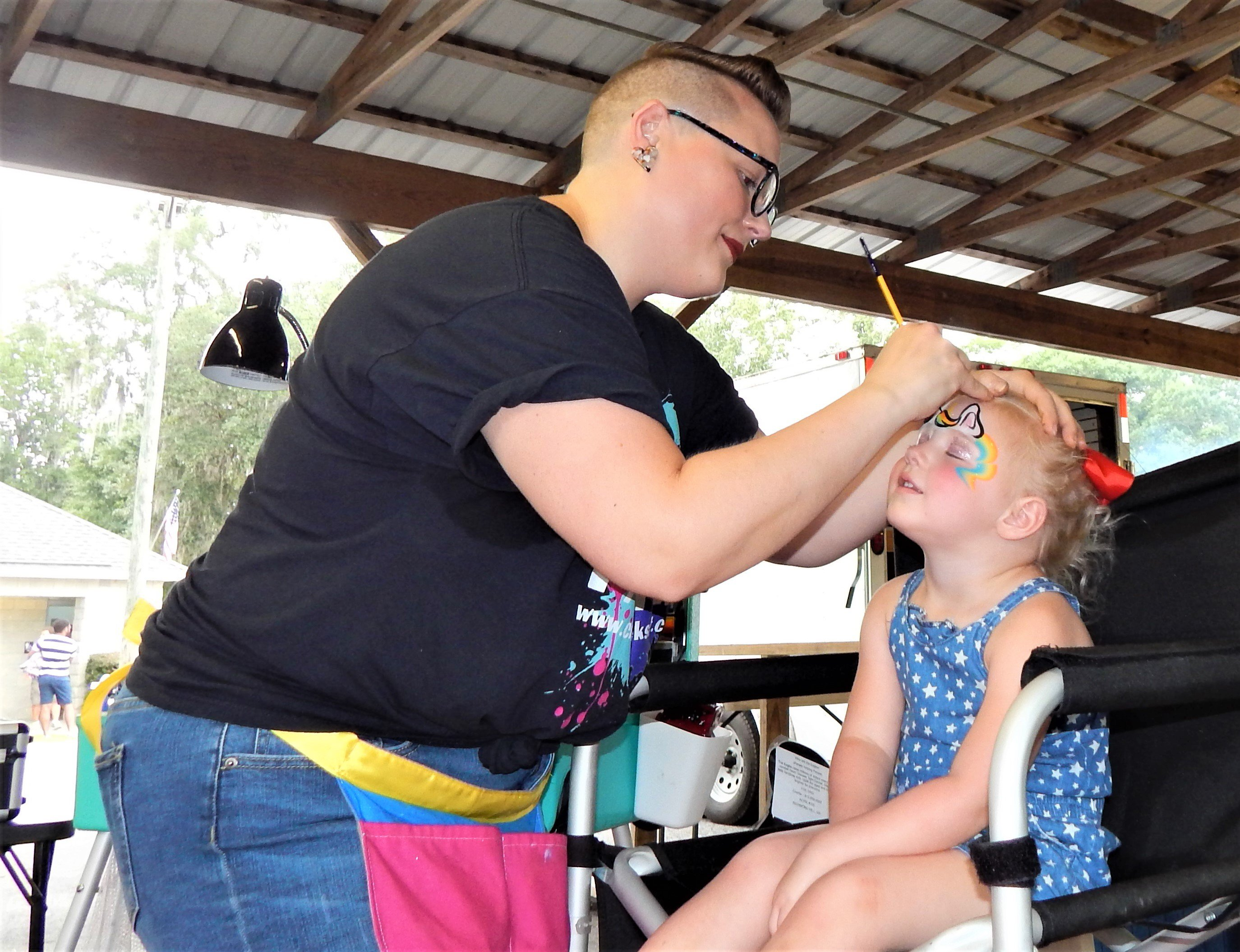 Several children decided to get their face painted. Photo by Mark Swendra.