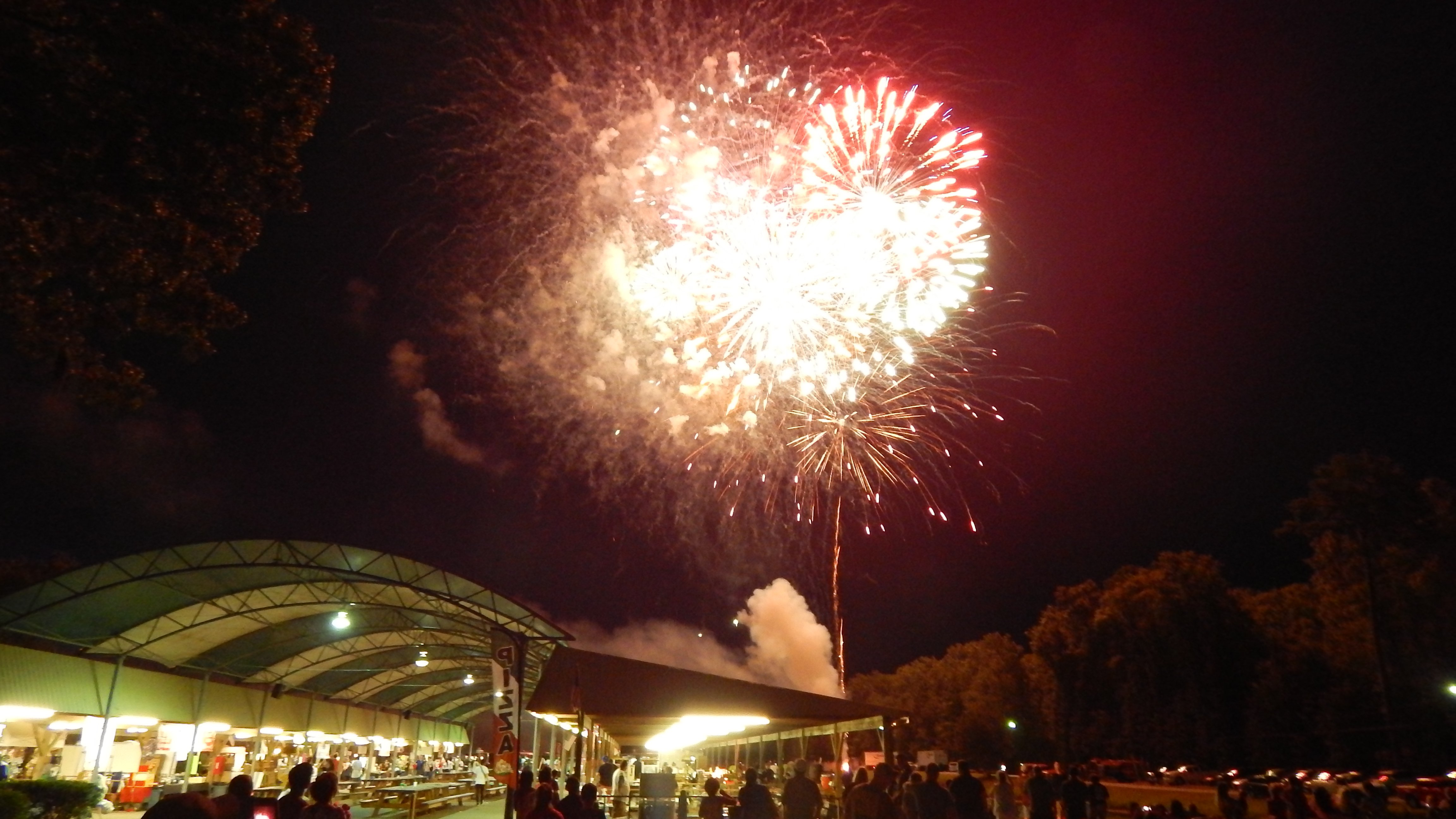 Fireworks lit up the sky over the park pavilion at the conclusion. Photo by Mark Swendra.