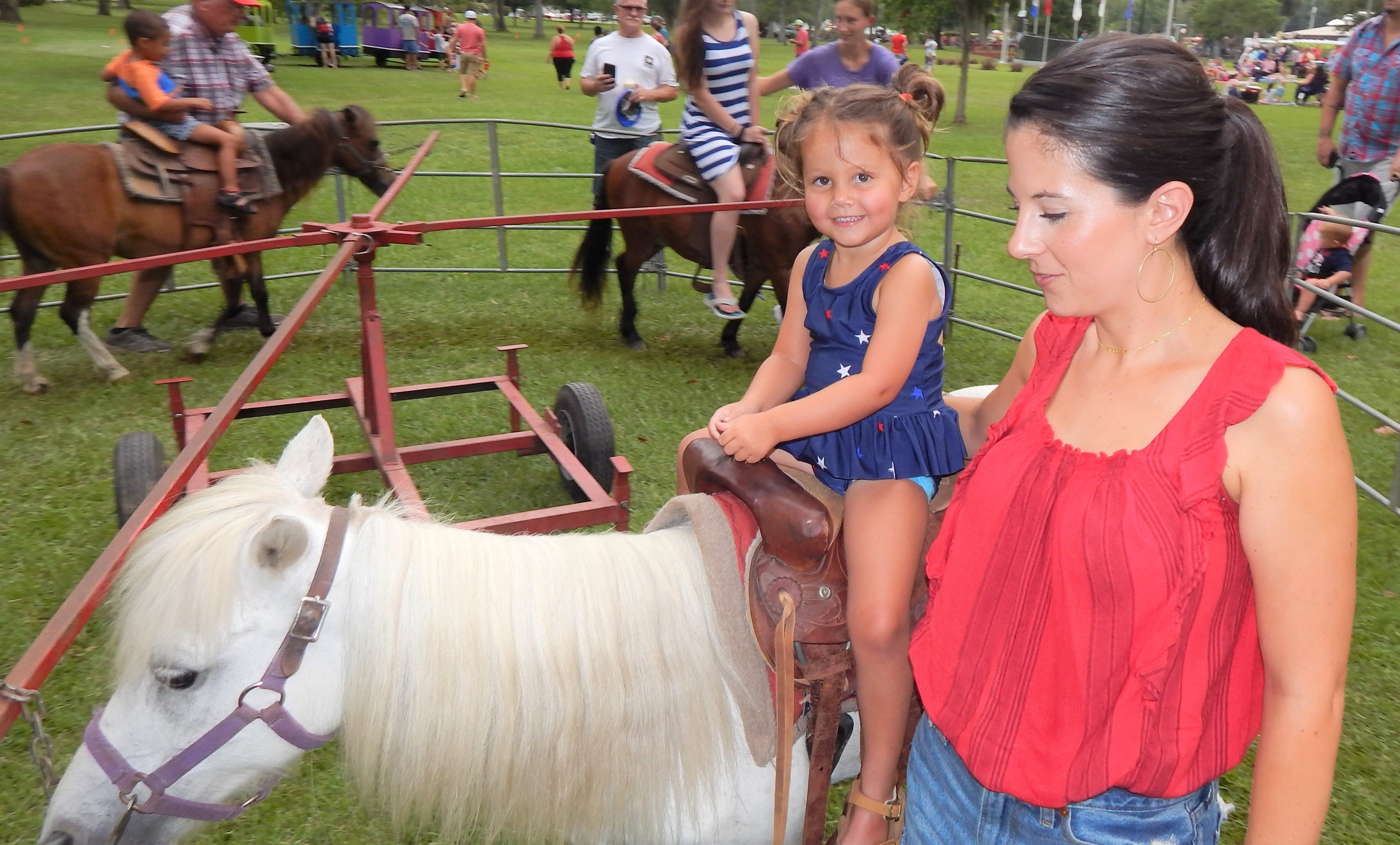 Kids enjoyed pony rides. Photo by Mark Swendra