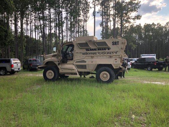 Wayne murder suspect - WCSO vehicle