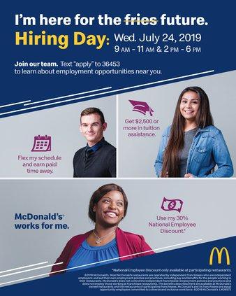 McDonald's hiring event