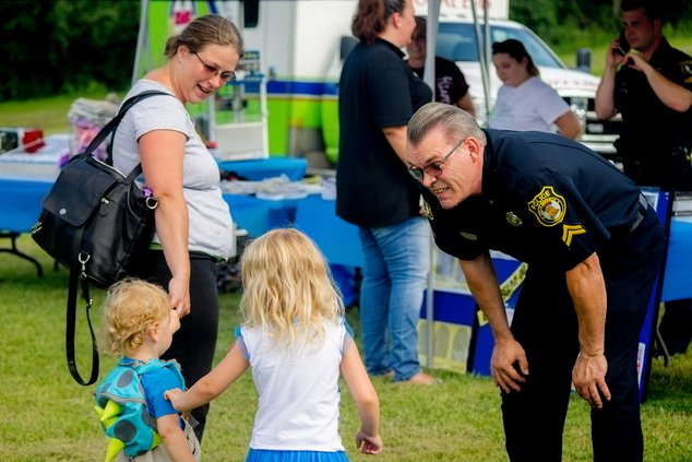 Cpl. Micheal Welter with kids