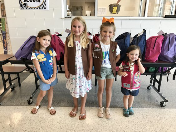 Girl scouts book bags