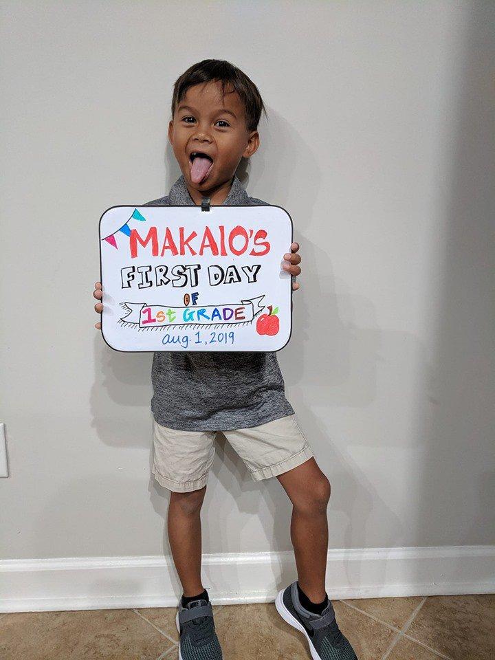 Makaio Jones, 1st Grade, RHPS