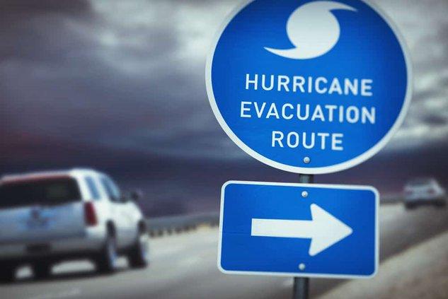 hurricane evacuation graphic