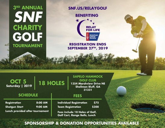 SNF charity golf tournament 2019