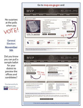 Sample ballot web site