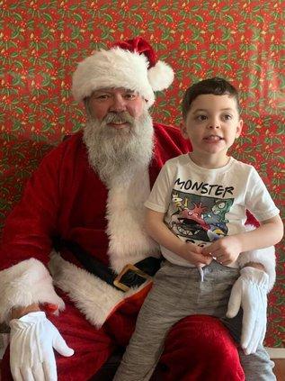 Santa at holiday craft fair