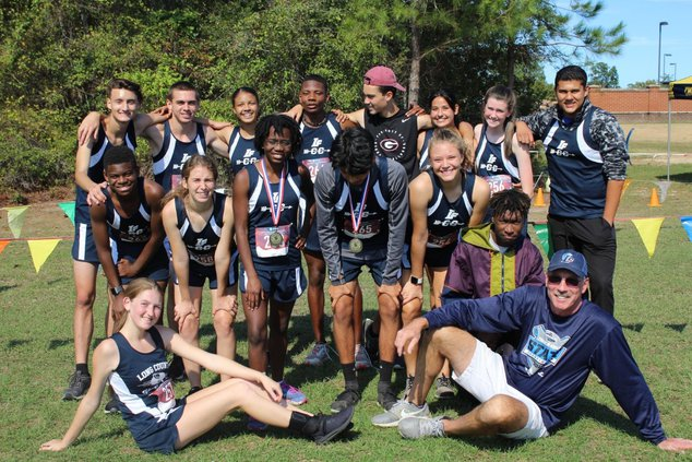 Blue Tide Cross country team