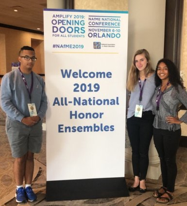RHHS students at All National Honor Ensemble