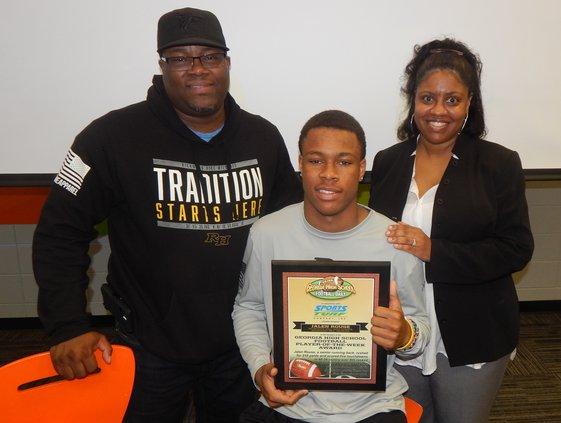 Jalen Rouse with parents
