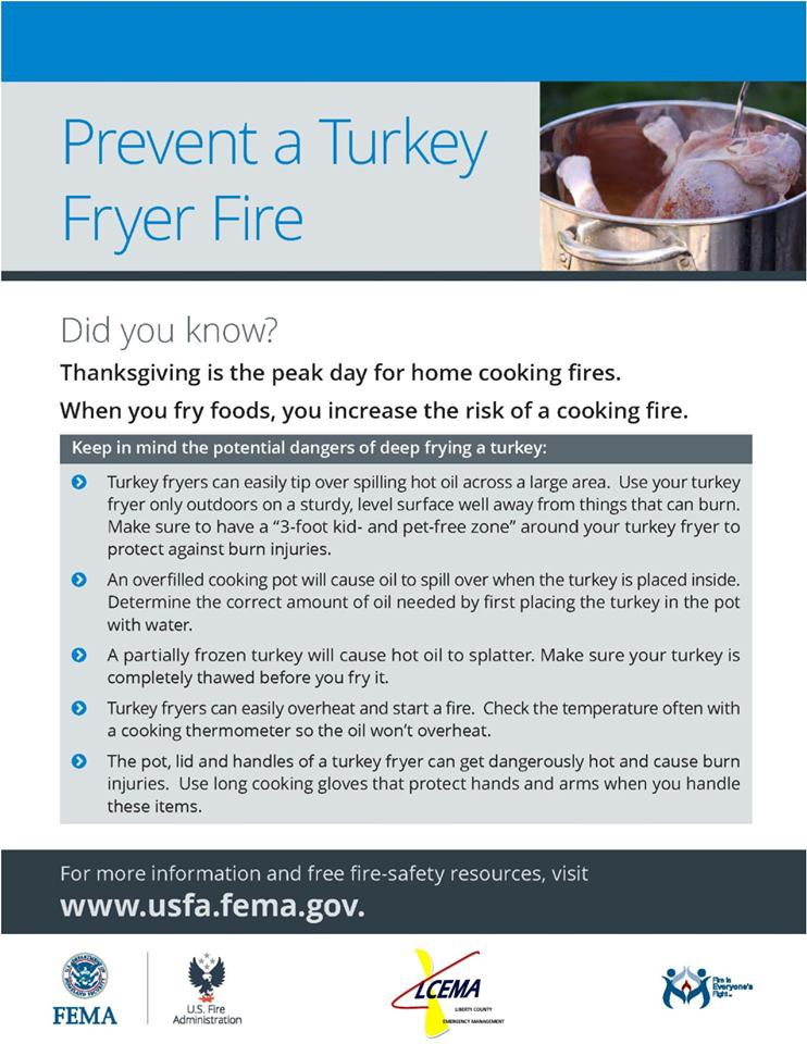 Turkey frying safety