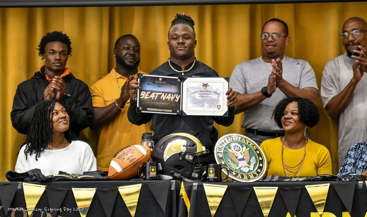 Panther Markel Johnson football for Army
