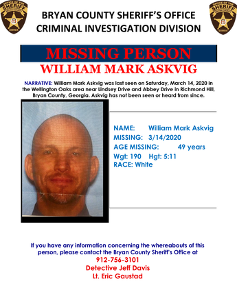 Missing man flyer BCN 031920