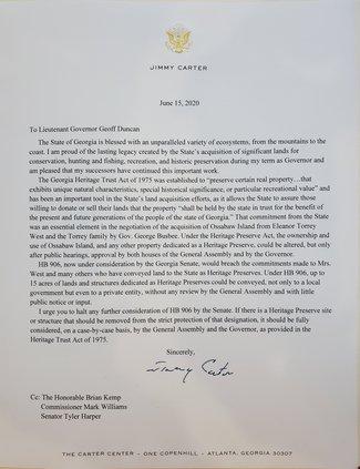 Jimmy Carter Letter