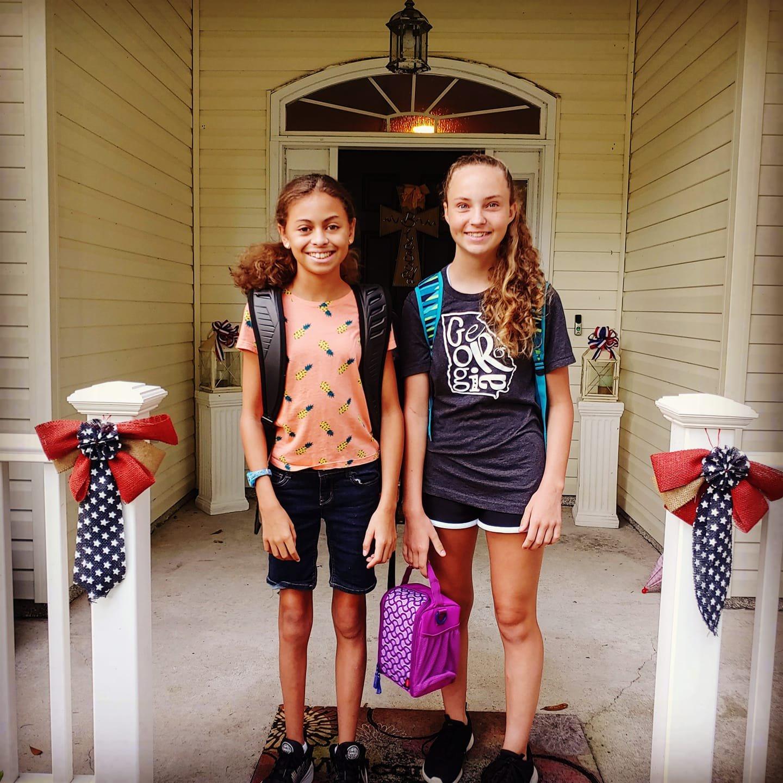 Hannah Nelson, 8th and her cousin, Jayla Johnson, 7th, RHMS.jpg