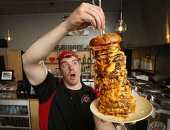Professional eater Randy Santel